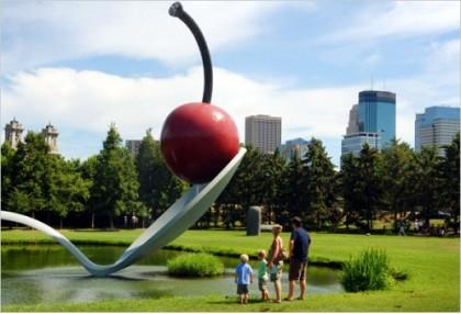 Top World Travel Destinations Minneapolis Sculpture Garden Minnesota Usa