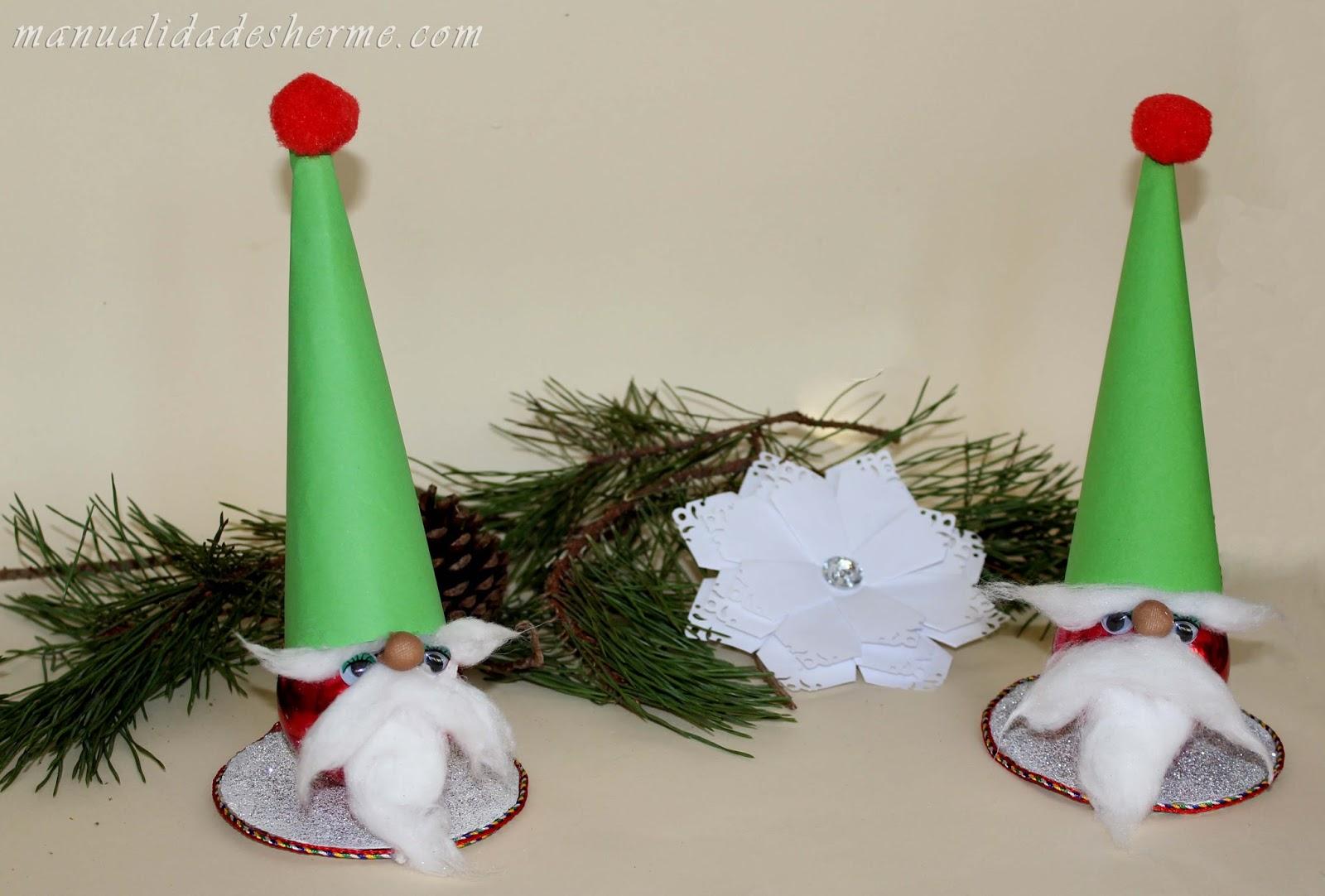 Manualidades herme como hacer un gnomo para decorar en navidad - Manualidades para decorar en navidad ...