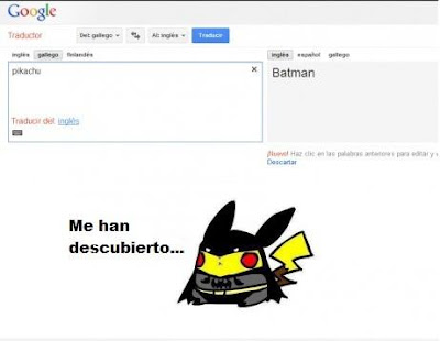 Pon Pikachu en el traductor de Google