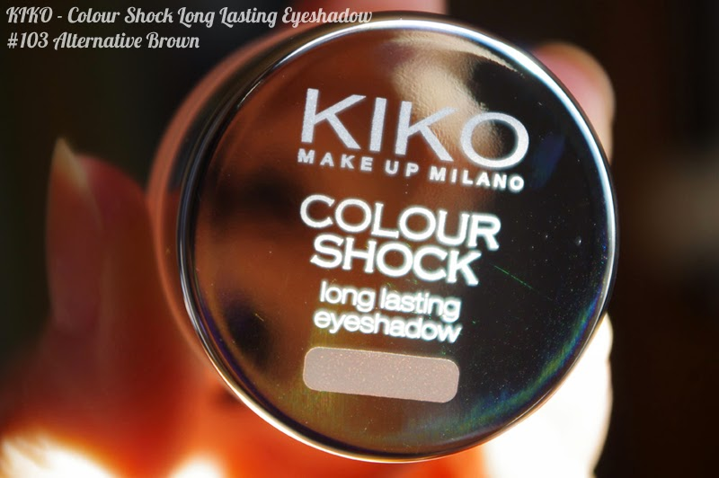 KIKO - Colour Shock Long Lasting Eyeshadow : swatches 103 Alternative Brown