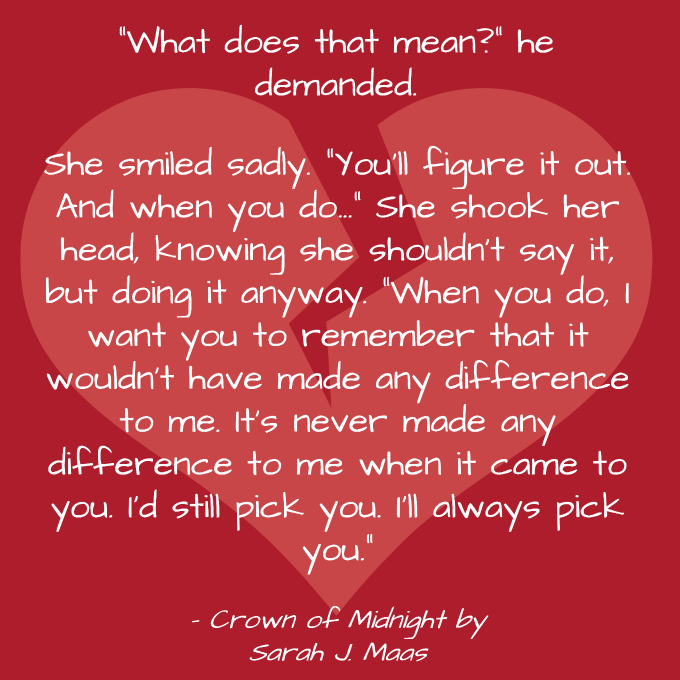 Crown of Midnight by Sarah J. Maas quote Journey Through Fiction