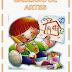 Capa Colorida Para Caderno Infantil de Artes