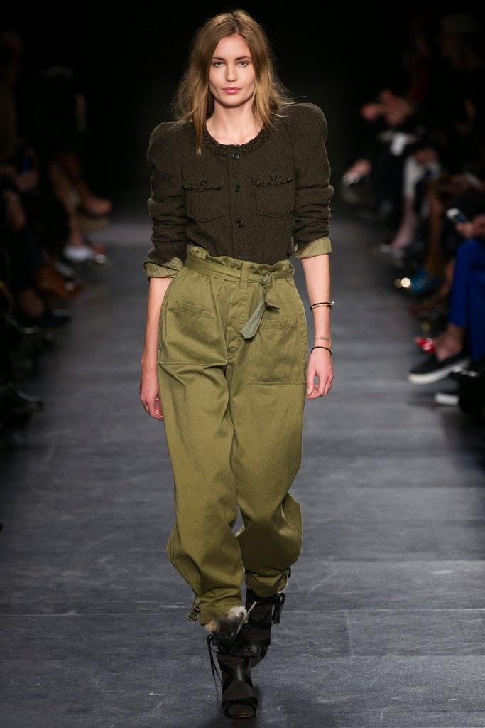 pantalon cintura alta con lazada Marant FW 14-15