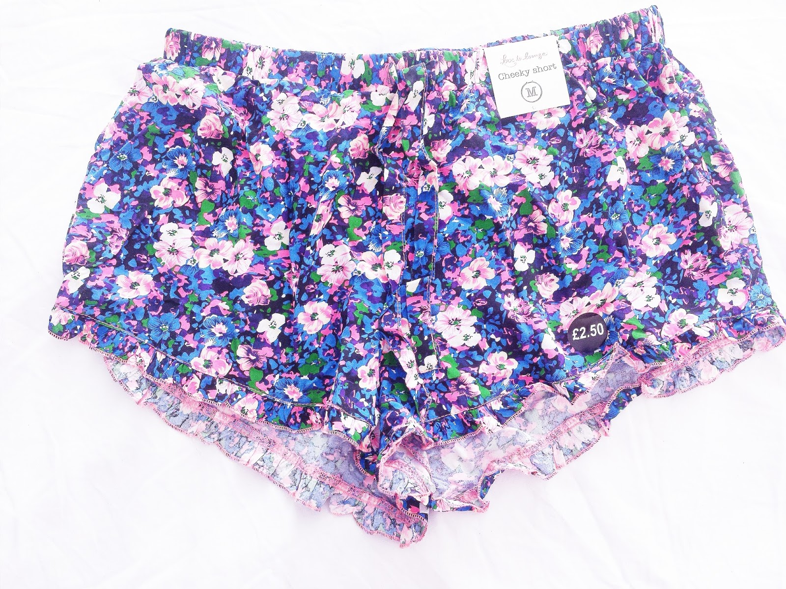 Primark Haul June 2015 Cheeky Short Floral Pyjama Bottoms