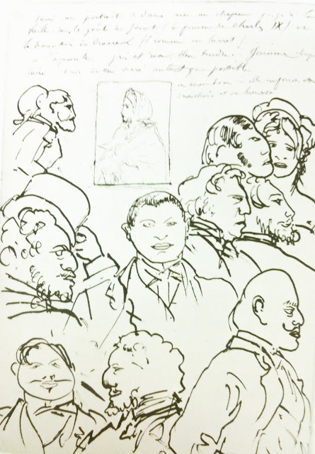From+the+sketchbook+of+Edgar+Degas+crowd+of+people+overlapping The Helpful Art Teacher: MORE ON DRAWING FACES