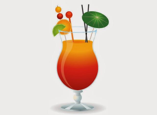 A Cocktail Glass in Adobe Illustrator