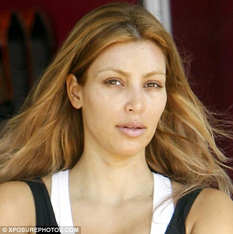 Kardashian Hair Extensions on Kim Kardashian Without Makeup And Lash Extensions And Hair Dressing