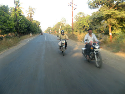 Speeding on a bike, Gujarat