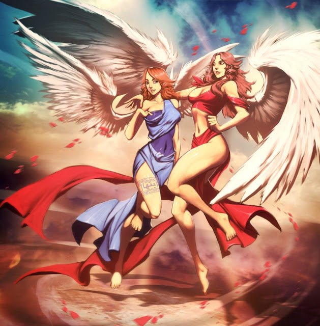 anime angels,angel girls,genzoman