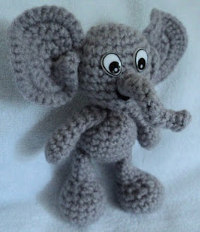 Free Crochet Amigurumi Puppy Pattern : 2000 Free Amigurumi Patterns: Crochet Elephant Free Pattern