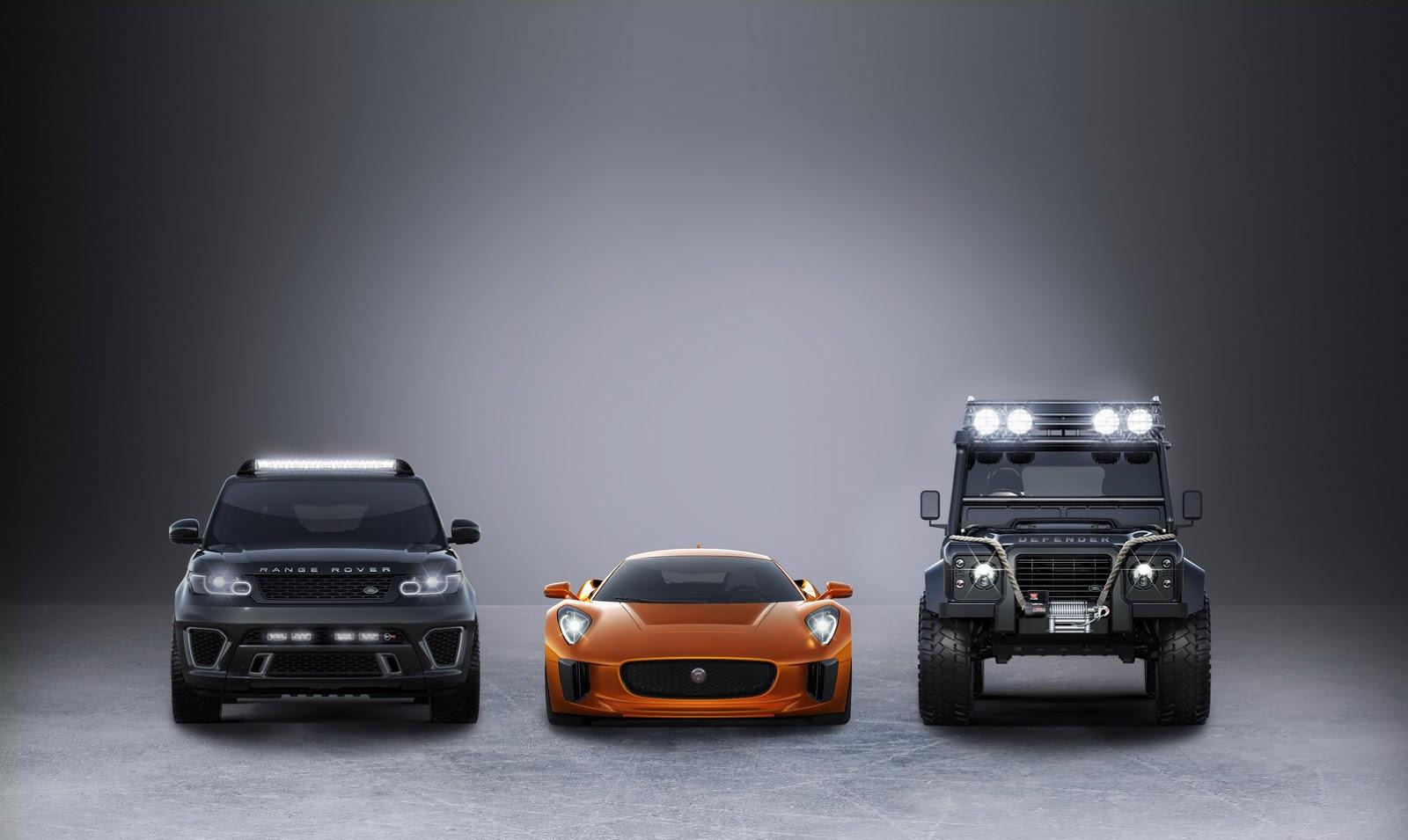 jaguar land rover 39 s trio of cars for new james bond movie spectre carscoops. Black Bedroom Furniture Sets. Home Design Ideas