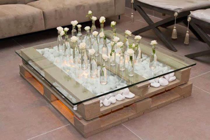Tavolino con pallet la casa delle idee - Tavolo con pedane ...