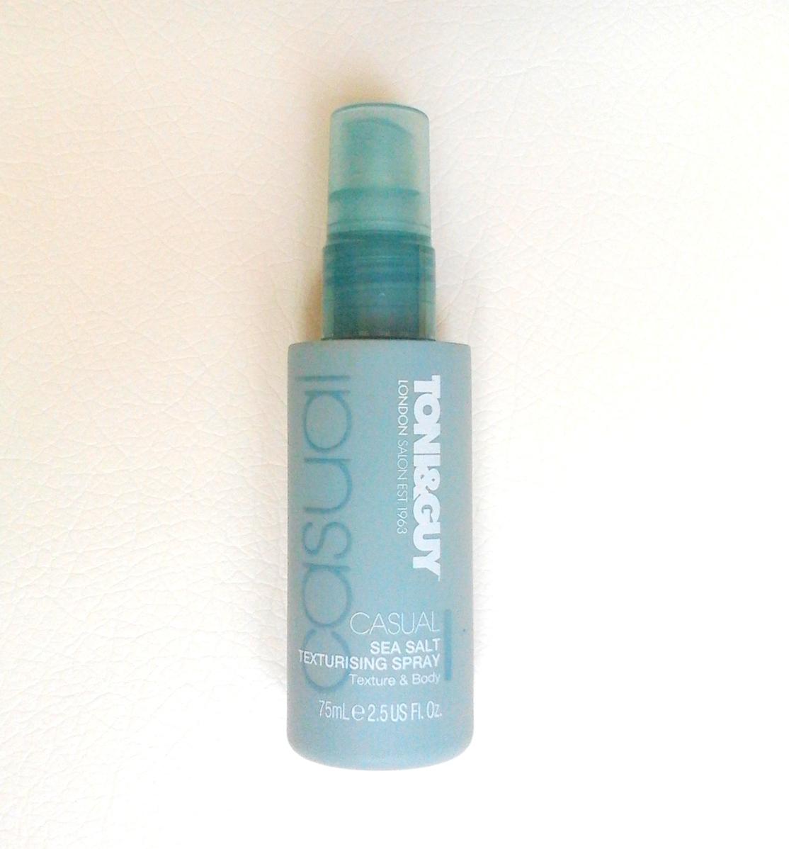 Спрей для волос toni guy casual sea salt texturising spray отзывы