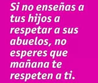 EL RESPETO A L@S ABUEL@S...