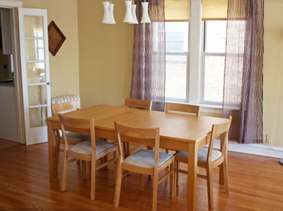 The dining room chairs get a makeover | How About Orange