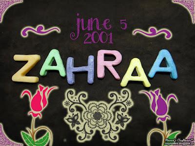 Zahraa June 5 2001