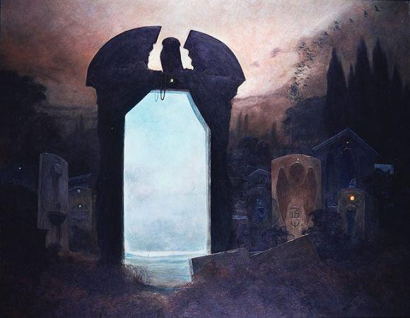 Zdzislaw Beksinski pinturas pesadelos sombrios surreais pós-apocalípticos góticos