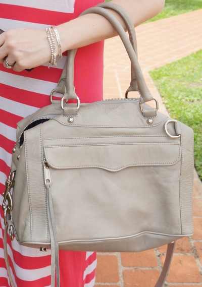 rebecca minkoff soft grey MAM bag