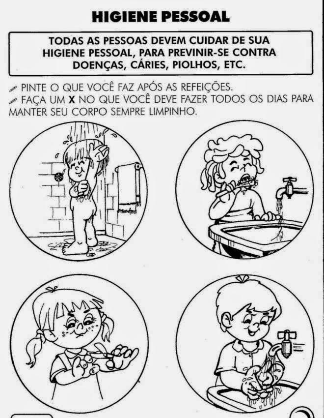 Desenhos sobre Higiene para pintar colorir imprimir! - imagens para colorir sobre higiene