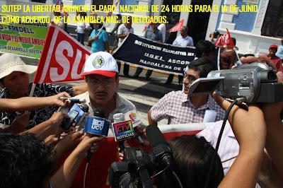 14 DE JUNIO: PARO NACIONAL SUTEP