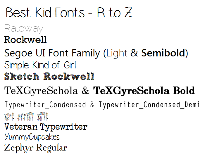 Ivy Amp Lily Best Fonts For Kids