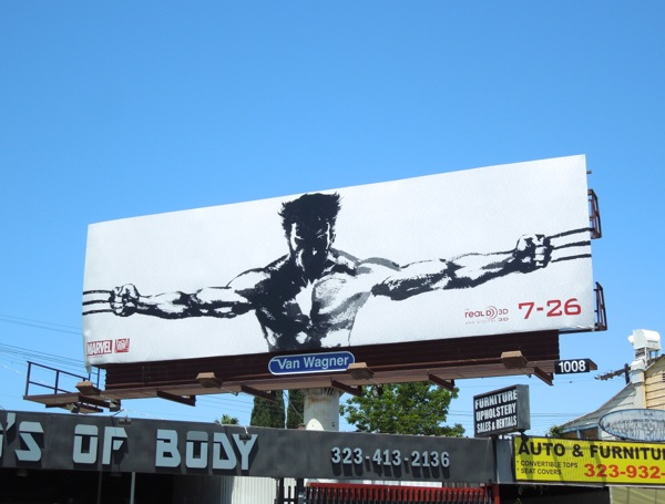 The Wolverine 2013 movie billboard