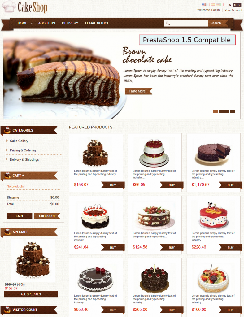 Search Results For Cakes And Bakery Menu Template