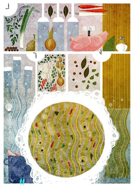 ligatura cookbook komiks kulinarny ilustracja urbaniak ilustracje do przepisów książka kucharska ilustracyjna