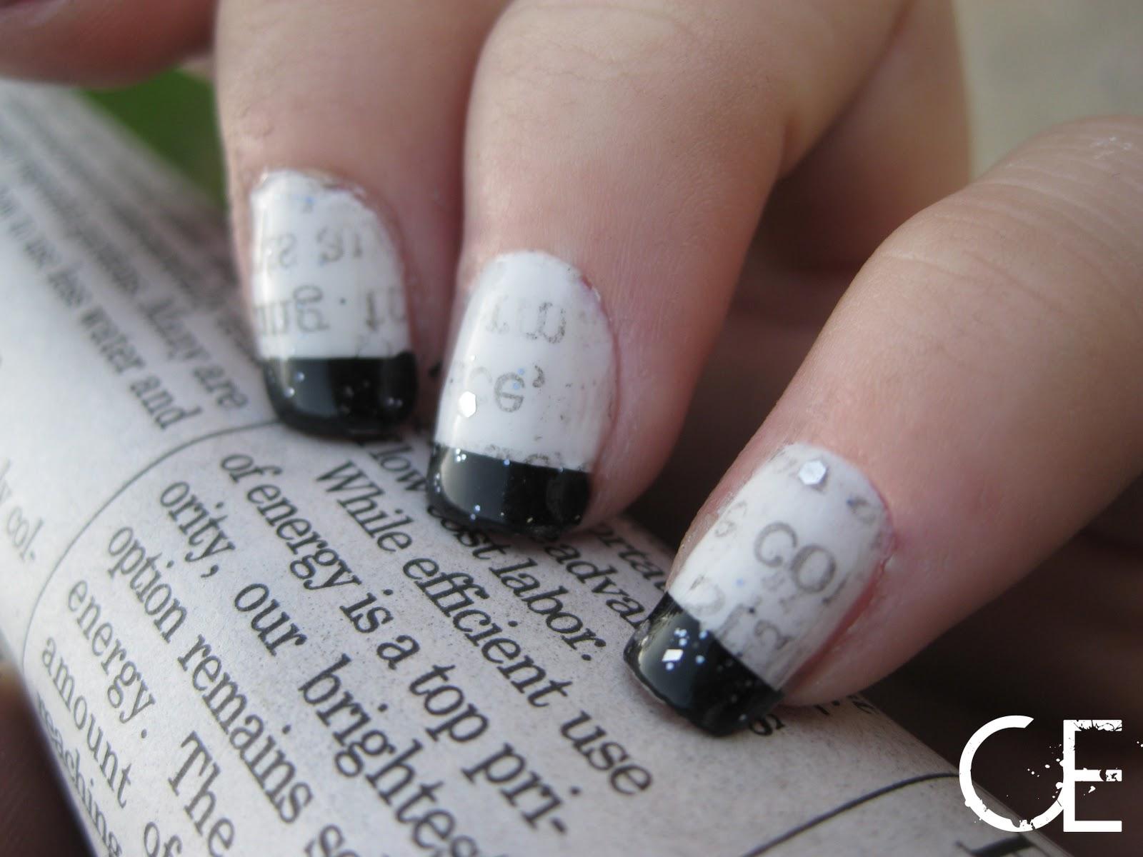 Makeup, etc!: Newsprint Nails!