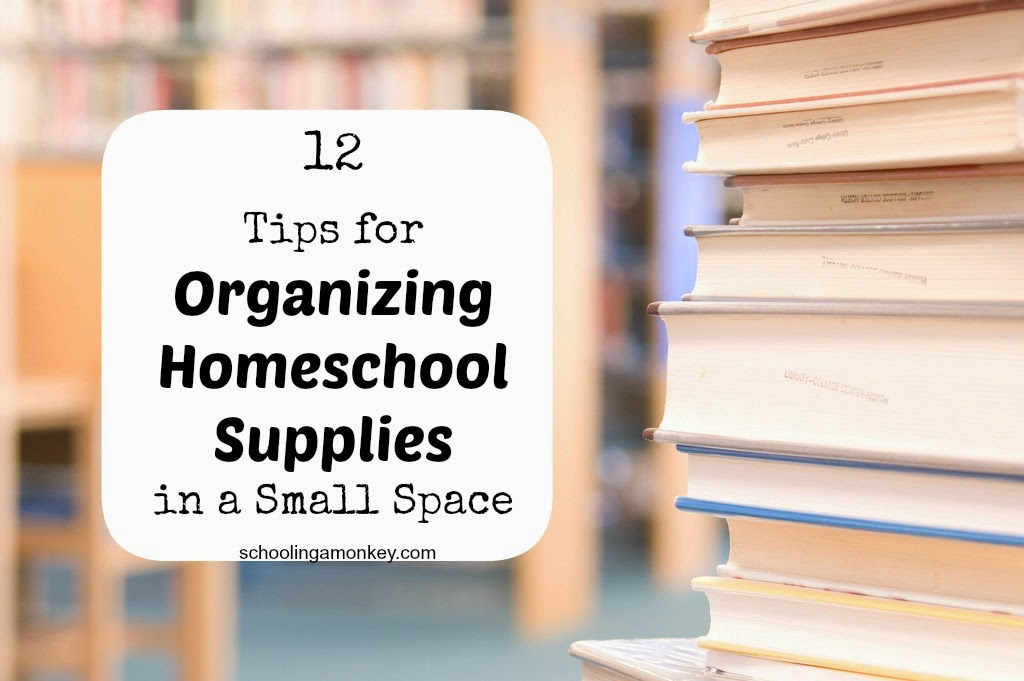 organizing homeschool room