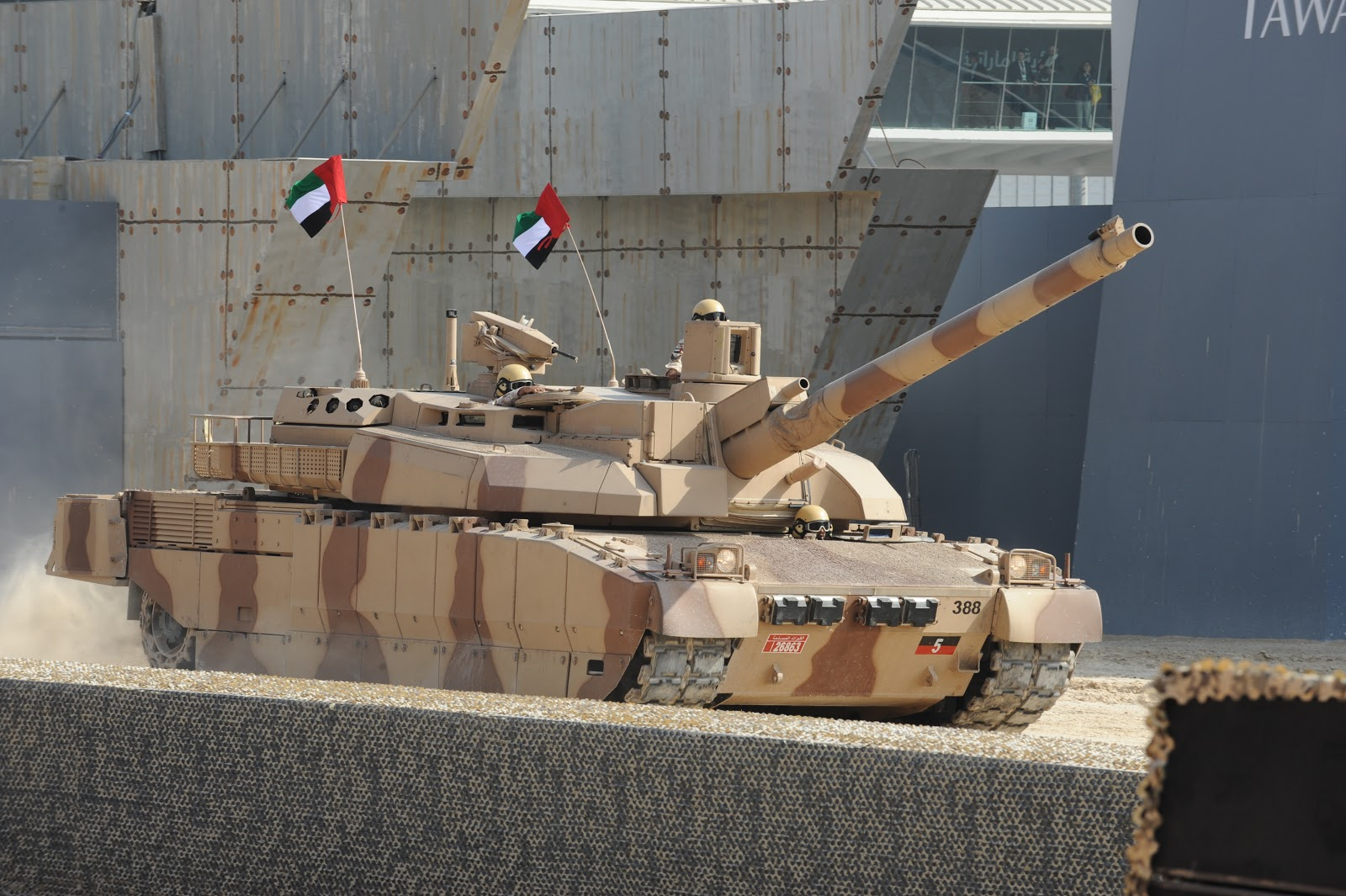 Leclerc main battle tank of army forces of united arab emirates