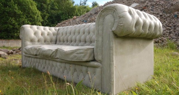 Gray Concrete couch