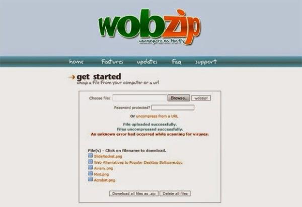 WobZip pengganti aplikasi Winrar atau Winzip
