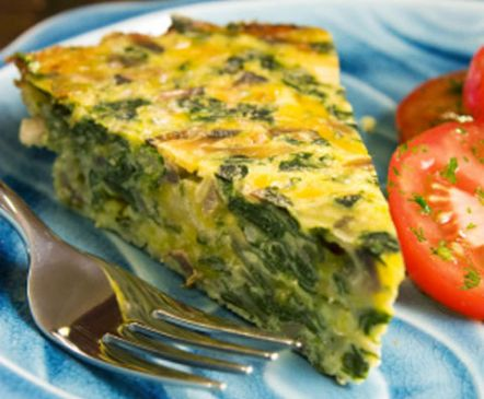 Crustless Spinach, Onion and Feta Quiche | Cook'n is Fun - Food ...