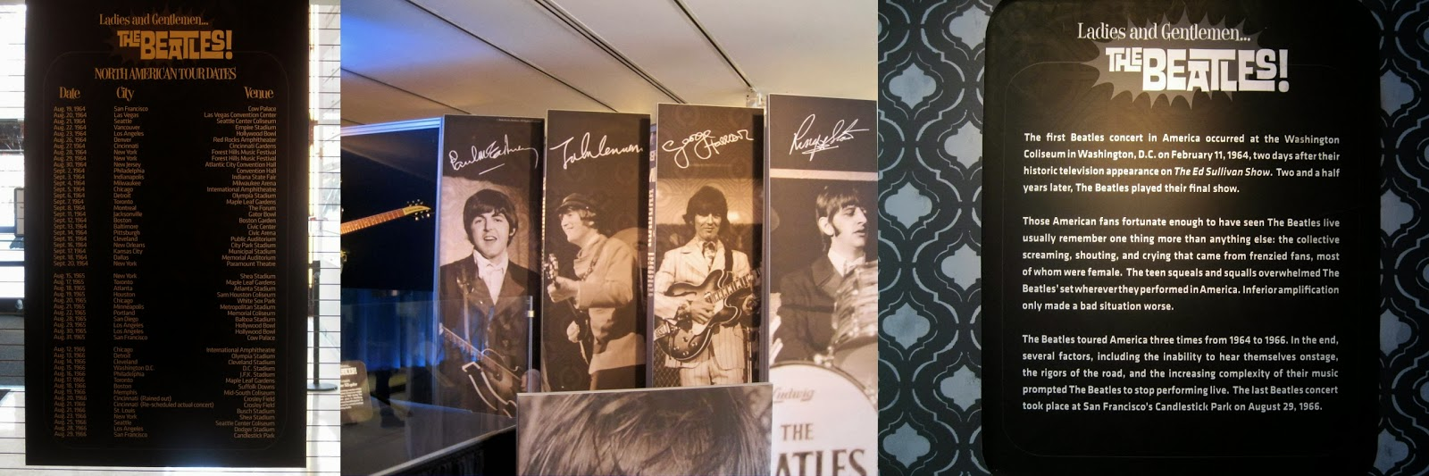 The Beatles North American Tour Dates