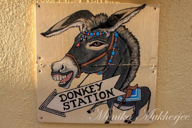 Santorini Donkey Station Greece by Monika Mukherjee