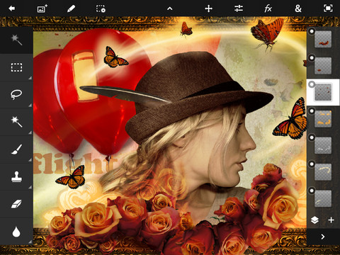 ipad,adobe photoshhop ,free download,ipad app