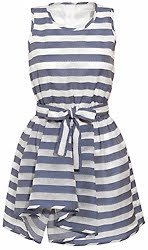 Jaeger Organdy Striped Dress