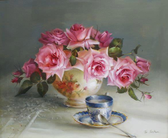 Beaux tableaux avec des fleurs
