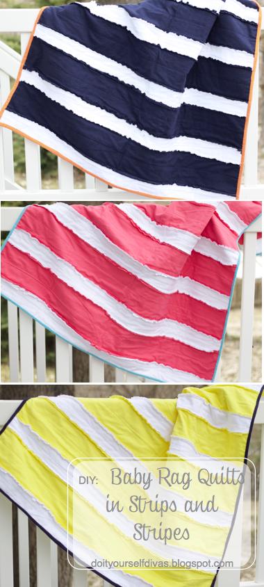 do it yourself divas: DIY: Baby Rag Quilts in Strips and Stripes : diy baby rag quilt - Adamdwight.com