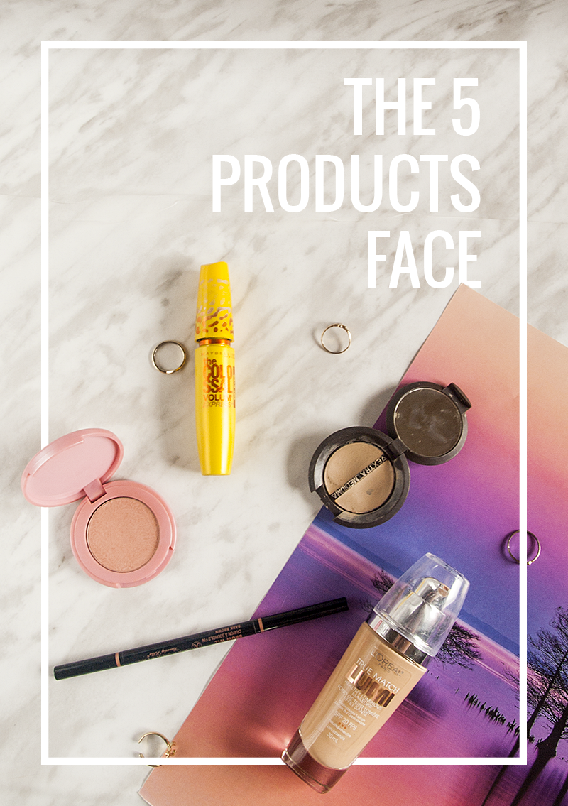The five product face : foundation, corrector, concealer, blush & mascara - Gendots