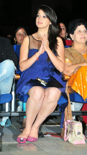 Lakshmi Rai in Blue Dress