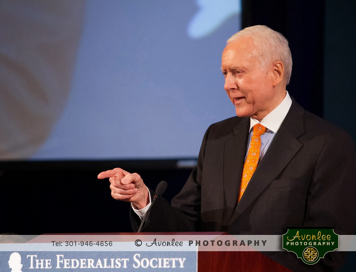 Senator Orrin Hatch, National Lawyers Convention, 2014, Federalist Society, Washington DC Event Photographer