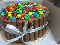 [M&M and Kit Kat Cake]