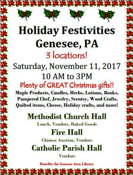 11-11 Holiday Fest, Genesee, PA