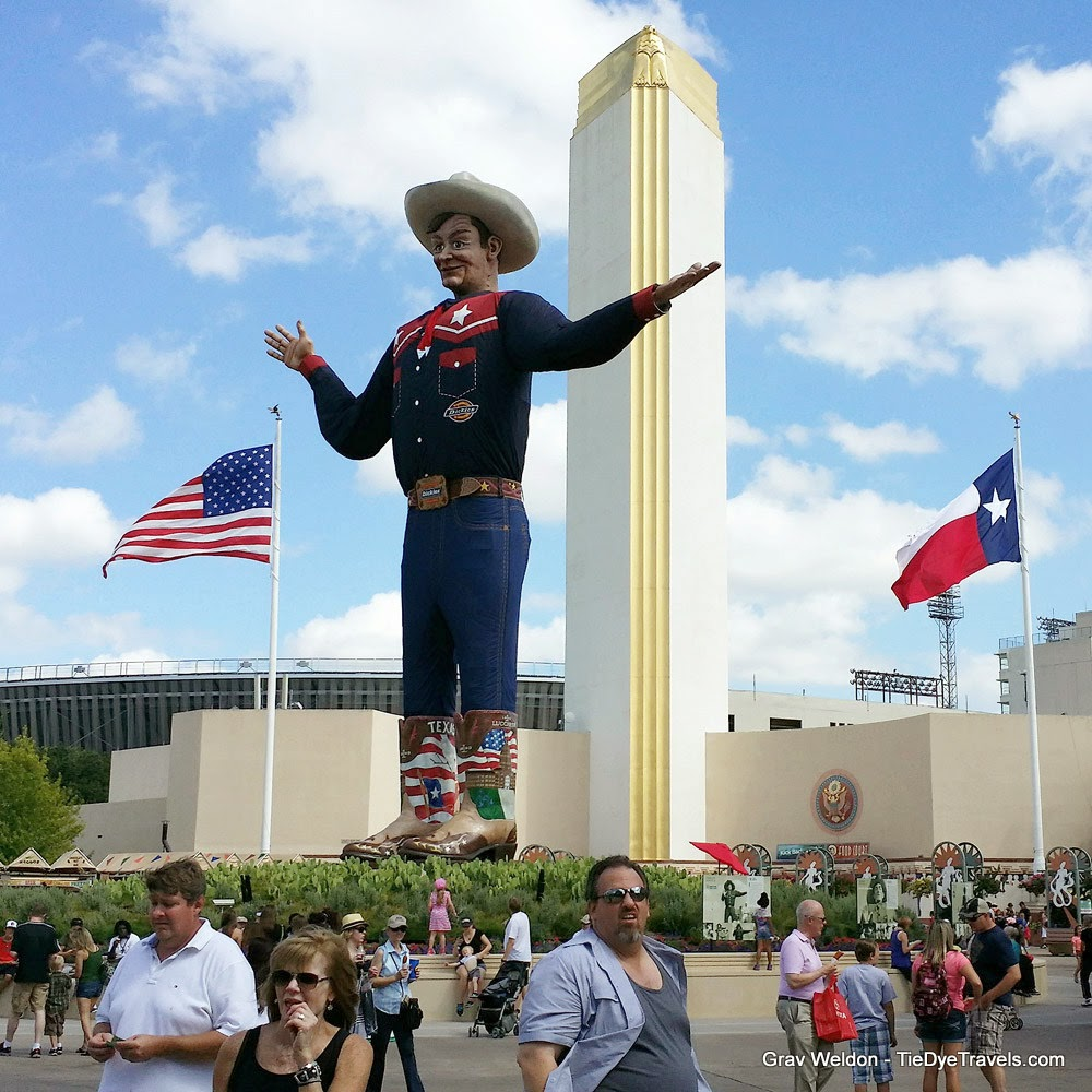 71 more crazy foods at the state fair of texas tie dye travels the new big tex complete with custom boots publicscrutiny Image collections