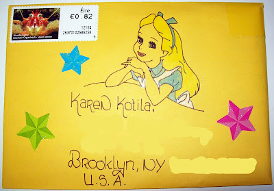 thats the way the cookie crumbles, mail, art, mailart, envelope, mail, art, alice in wonderland, alice