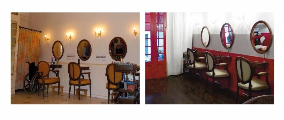 Avant / après travaux au Studio 54,  mis à jour pour le 1 er anniversaire du salon de coiffure à Montpellier, le Studio 54.