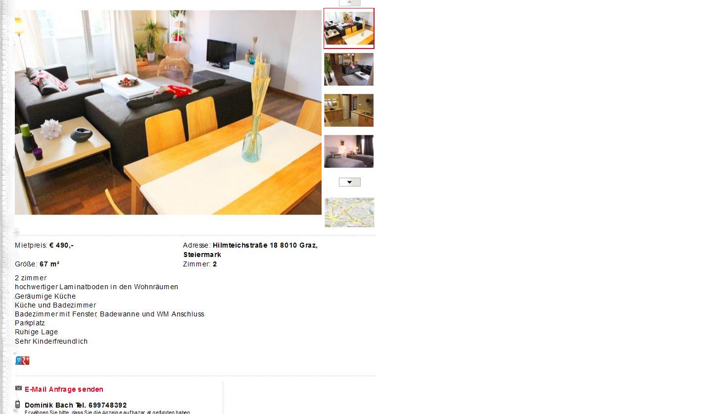 Graz informationen ber wohnungsbetrug for Wohnung zu vermieten