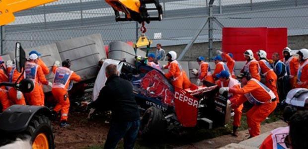 Kecelakaan, Keadaan Carlos Sainz Tidak Mengkhawatirkan